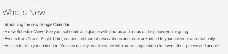 Google kalender nye funksjoner
