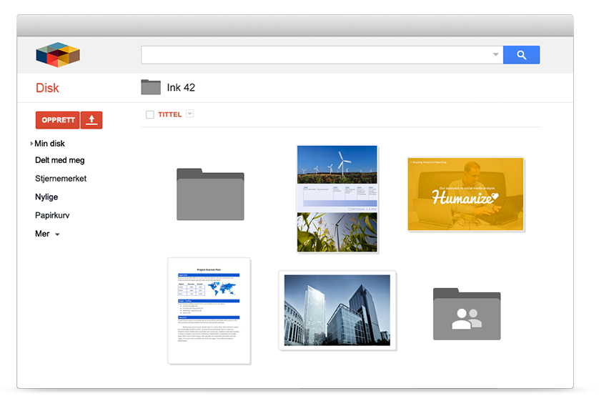 Google drive for bedrifter